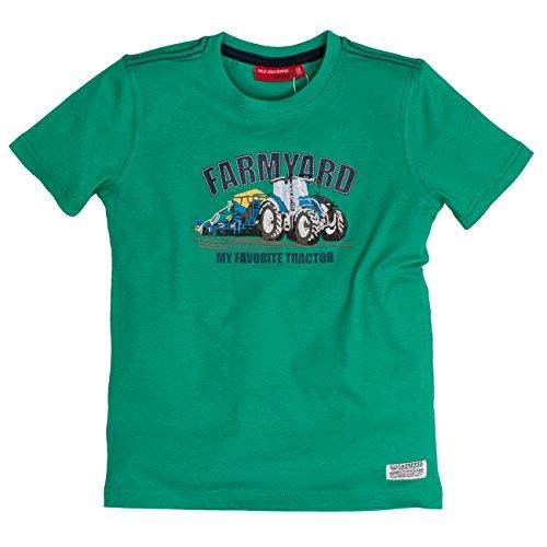 SALT AND PEPPER Jungen T-Shirt Tractor Uni, Grün (Green 650), 104 (Herstellergröße: 104/110)