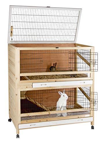 Kerbl 81703 Kleintierkäfig Indoor Deluxe Doppelstöckig, 115 x 60 x 118 cm - 2