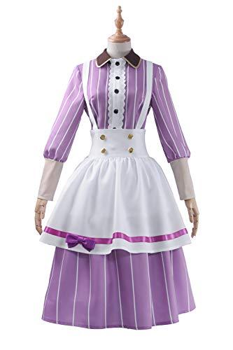 Cosplayfly Love Live Nozomi Tojo Nette Frauen Anime Cosplay,Damen Französisch Schürze Dienstmädchen Kostüm für Karneval Fasching - Nozomi Tojo Cosplay Kostüm