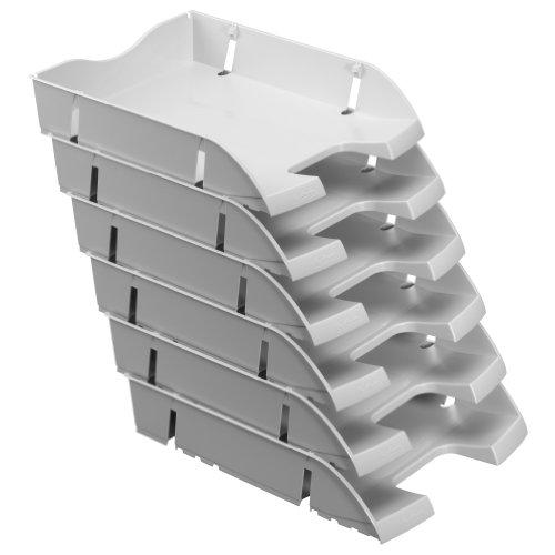 Herlitz 11247103 Ablagekorb A4-C4 space PET-Recylat (  6 Stück im Pack ) grau