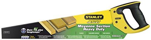 Stanley 2-15-289 Scie égoïne jetcut coupe de débit moyenne section 550 mm