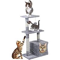 Homgrace Árbol para Gatos Juguete Rascador para Gatos para que los Gatos para Relajarse, Jugar y Descansar Color Gris (85 cm)