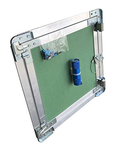 Inspektionsklappe 40 x 40 mit 12,5 mm GKBI Einlage incl. Dichtung mit Leuchtmittel, Befestigungsschrauben