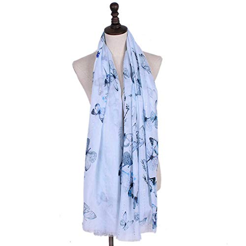 Xiaochou@sl Vier Jahreszeiten Schal neuen großformatigen Pailletten balinesischen Garn Pumpschal Schmetterling elegant großen Schal Multi Funktion warmen Kühlung misst Sonnencreme für Frauen -