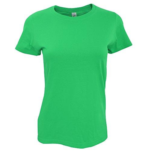 SOLS Imperial Damen T-Shirt, Kurzarm, Rundhalsausschnitt Kellygrün
