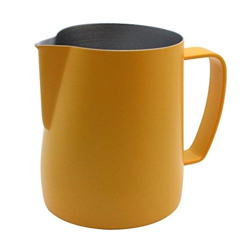 Dianoo Krug Krug Aus Edelstahl Dampfender Krug, Der Für Kaffee Geeignet Ist Latte Und Schäumende Milch 350ml Gelb