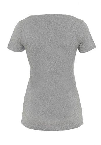 DAILY'S ALLY Damen basic T-Shirt mit V-Ausschnitt aus 100% Bio-Baumwolle - soziale fair trade Kleidung, Mode vegan und nachhaltig Color melange-grey, Size S - 2