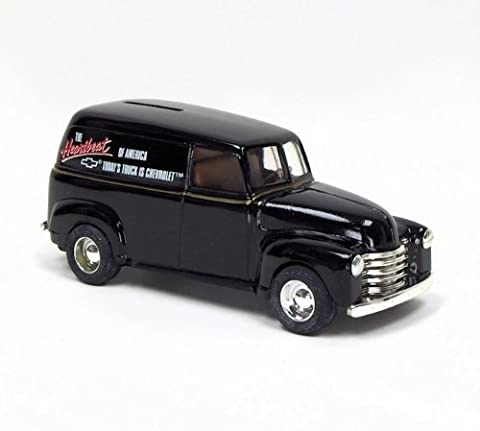 1/25th Black 1950 Chevy Panel Diecast Bank with Chevrolet Logos by TOMY International (ERTL)