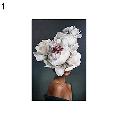 Kalaokei Senza Cornice Quadro Moderno Astratto Piuma Donna Arte Pittura Decorazione Poster, 1#, 30 * 40cm