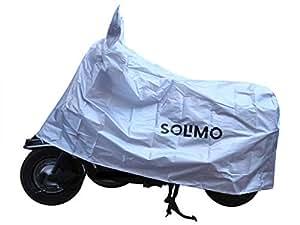 Amazon Brand - Solimo TVS Jupiter Water Resistant Bike Cover (Silver)