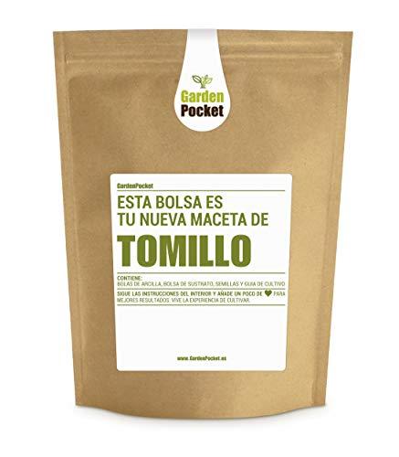 Garden Pocket - Kit de Cultivo de TOMILLO - Bolsa Maceta