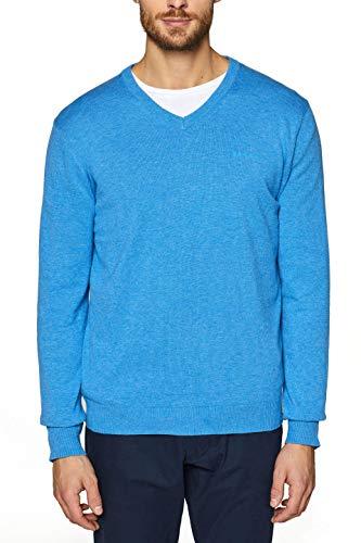 ESPRIT Herren Pullover 029EE2I001 Blau (Blue 430) Medium (Herstellergröße: M)