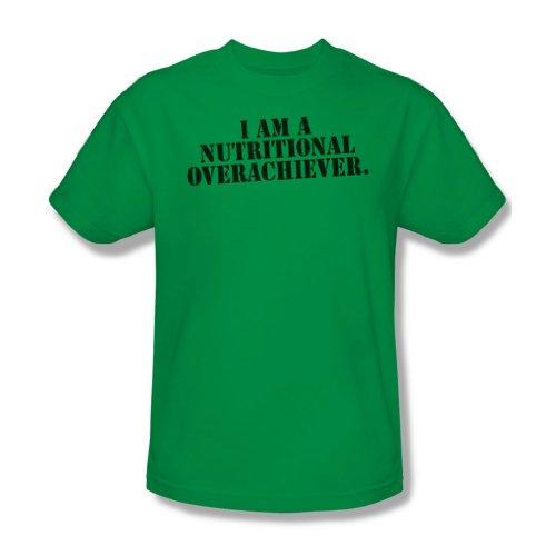 Nutritional Overachiever-Maglietta da uomo, colore verde Kelly Verde - Kelly green