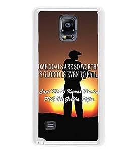 YuBingo Samsung Galaxy Note 4 :: Samsung Galaxy Note 4 N910G :: Samsung Galaxy Note 4 N910F N910K/N910L/N910S N910C N910Fd N910Fq N910H N910G N910U N910W8 2D Designer Phone Back Case Cover ( Soldier Shooting )
