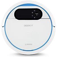 ECOVACS ROBOTICS DEEBOT 300 - El Robot de limpieza de suelos con depósito de agua para limpiar en seco y húmedo (optimizado para cabello de mascota), azul/blanco