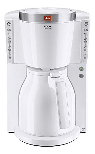 Melitta Look Therm Selection 1011-11, Filterkaffeemaschine mit Thermkanne, AromaSelector, Weiß