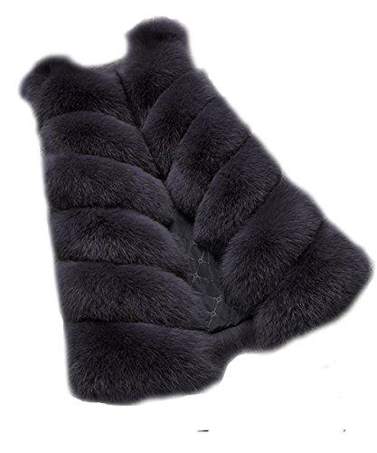 FOLOBE Womens 'Winter Warm Faux Pelz Weste Mantel Jacke Pelz