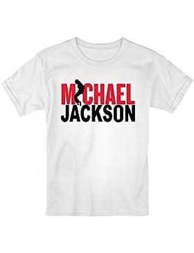 LaMAGLIERIA Camiseta Niño Michael Jackson Bicolor - t-Shirt Kids Rocker Algodòn