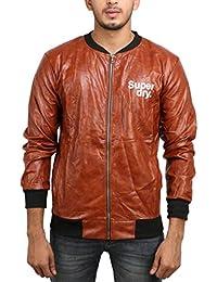 BUYBACK® Mens Winter Jacket Outwear Slim Warm Jacket(Code-sd-BRWN)(Size-M)