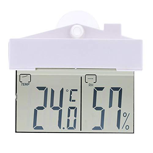 Higrómetro Mini Pantalla LCD Termómetro Digital for Uso en Interiores al Aire Libre del lechón Colgar...
