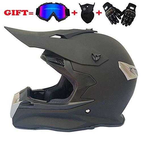 YYCC-helmet Fast Drop DH Off-Road-Motorrad AM Mountainbike Vollhelm Reithelm, Rennhelm Sicherheit Sicherheit Helm Knight Off-Road-Helm kühlen Off-Road-Helm,S