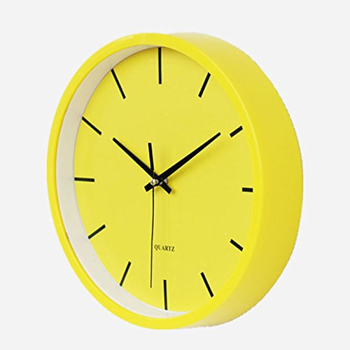 Benefitsheen 10 Non Ticking Silent Wall Clock With Glass Cover