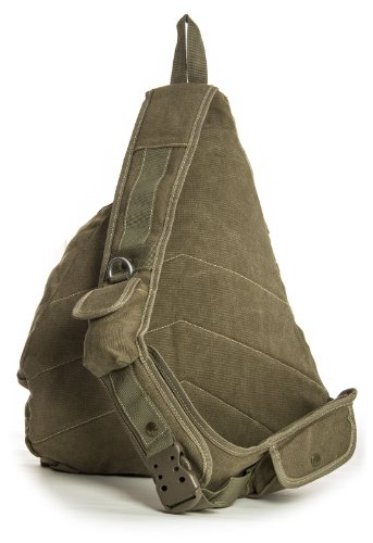 Big Handbag Shop, Borsa a spalla uomo One Verde (Army Green)