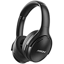 Mpow 35Hrs Noise Cancelling Headphones, Bluetooth Headphones Over Ear with Quick Charge, Hi-Fi Deep Bass Wired & Wireless Headset Bluetooth 5.0, Built-in CVC 8.0 Mic for Travel Work Cellphone PC TV