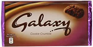 Galaxy Cookie Crumble Chocolate Bar 119 g (Pack of 6)