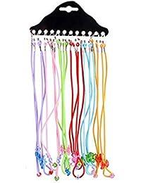 12 gafas de gafas para niños con cordón elástico para el cuello, colorido