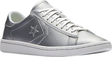 Sneaker Converse Pro Leather Metallic Silver Silber