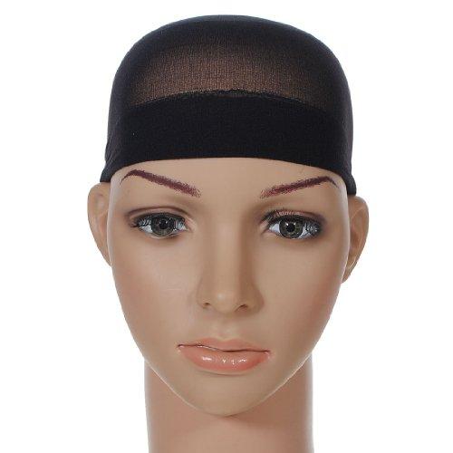 KINGSO 2 Pcs Filet A Cheveux Chapeaux Bonnet Perruque Déguisement Elastique Femme Homme-Noir