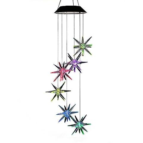 Variation de couleur Meteor Carillon, Acelist spirale Spinner Carillon Portable extérieur décoratifs romantique Windbell lumière pour patio, terrasse, cour, jardin, maison, allée