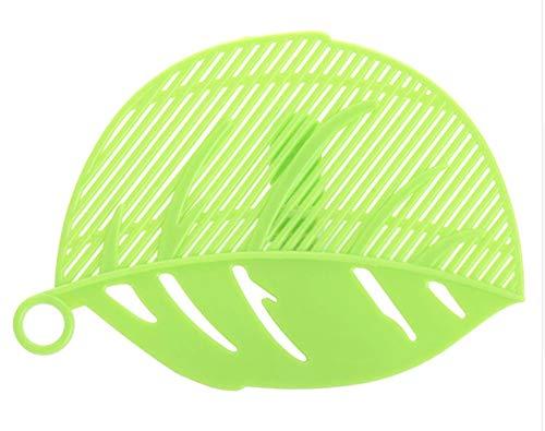 EROSPA® Universal Topf-Sieb Abgießhilfe mit Halteclip - Nudeln Reis Pasta Gemüße - Grün