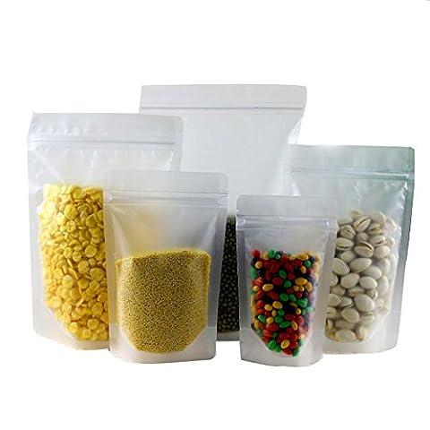 20PCS Clear Ziplock Plastic Grip Seal Bag Transparent Food Stand