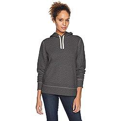 Amazon Essentials - Sudadera de tejido de rizo francés con capucha y forro polar para mujer, Gris (Charcoal Heather), US M (EU M - L)