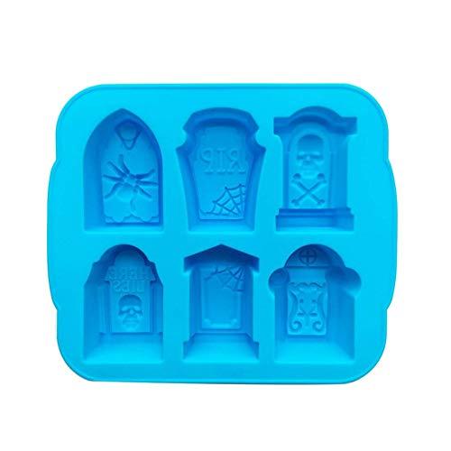 Grabstein geformt Silikon Eiswürfelform Tablett mit Deckel Eisform für Getränke DIY Kuchen Süßigkeiten Schokoladenseife