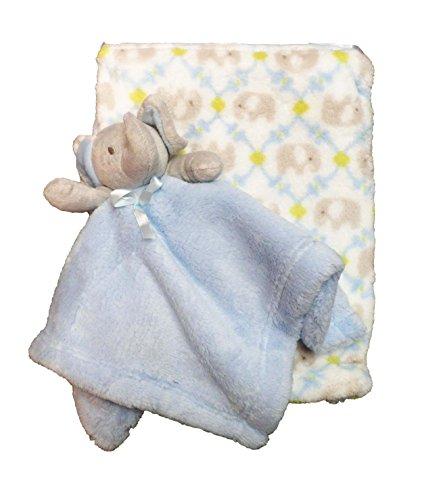 Ultra Doux Luxueux Couverture éléphant bleu Landau/berceau pour bébé et Doudou