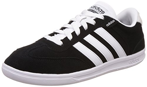 adidas Herren Cross Court Turnschuhe, Black/White, 47 1/3 EU