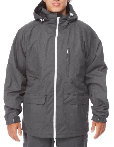 Light Herren Snowboardjacke Foster, Dark Grey Heather, M, FA861-13 (Hose Blend Snowboard Special)