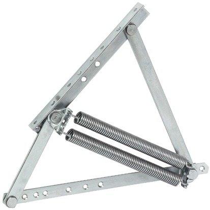 GedoTec® Springaufbeschlag Hochstellstütze Swing Away   Bettbeschlag längs und quer aufklappbar   Klappenbeschlag Stahl verzinkt   Markenqualität für Ihren Wohnbereich
