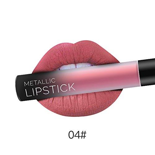 Nackt Glasur (KAYI Traumfarbe Runden Tube Lip Gloss - Matte Velvet Wildleder Lip Glaze - Nackte Pink, Retro Rot, Kürbis Rot, Koralle Rot, Respberry)