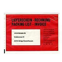 250 St. selbstklebende C6 Dokumententaschen 175x125 mm Lieferscheintaschen Rechnungstaschen