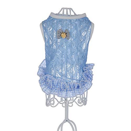 ings- und Sommerkleidung Liebe Masche Weste Pet Kleidung Heimtierbedarf Blue Small ()