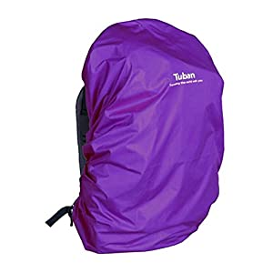 41N1PnBX9kL. SS300  - Black Temptation Outdoor Riding Backpack Rain Cover Waterproof Backpack Cover-40 L Purple