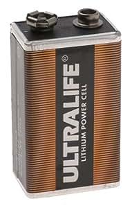 Pile 9V (6R61) lithium 1200 mAh Ultralife