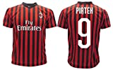 Maglia Piatek Milan Ufficiale 2019 2020 AC Adulto Bambino Krzysztof Nuovo Numero 9 Nove (10 Anni)
