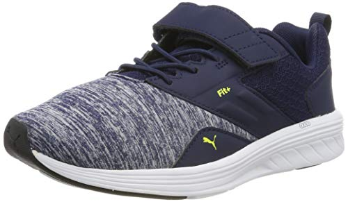 Puma Unisex-Kinder NRGY Comet V PS Sneaker, Blau (Peacoat-Blazing Yellow), 28 EU - Schuhe Jungen Puma