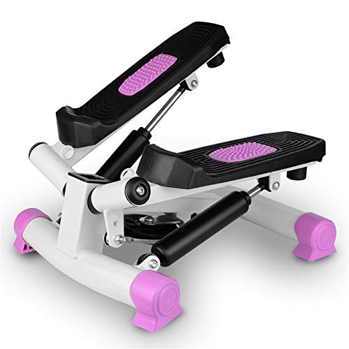 Zs-SportGoods Fitnessgeräte Mini Stepper mit LED-Anzeige Up-Down Stepper, Heimtrainer, Sporttraining (Farbe : Rosa)