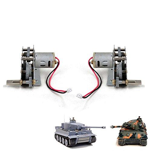 Unbekannt Original Heng Long Metallgetriebe-Set mit Motoren für RC Ferngesteuerter Panzer, Passend für German Tiger 3818-1 und Panther 3819-1, Ersatzteil